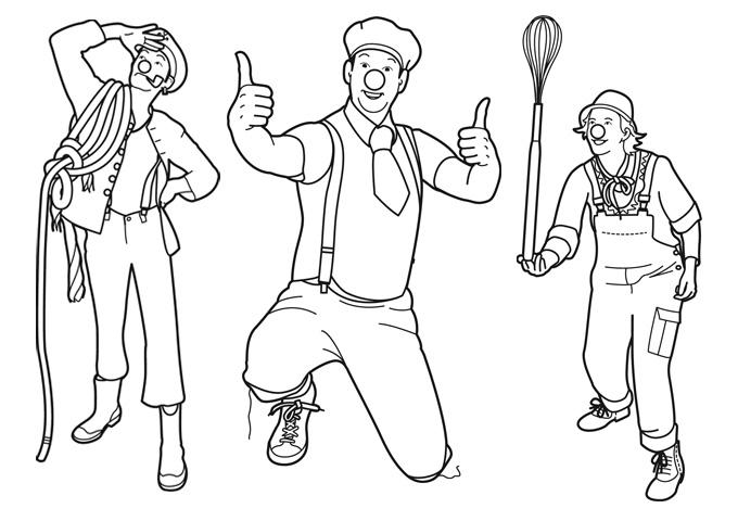 kleurplaten clini clowns illustratie visual studio