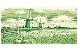 Illustratie voor Landana kaas