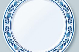 illustratie Delfts blauw bord