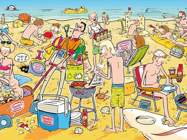 illustratie voor Gouda's Glorie strandemmer
