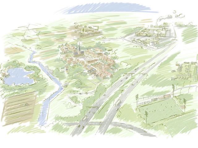 schets dorp