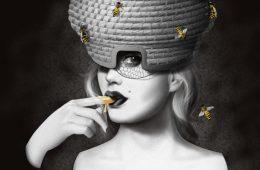 Illustratie biermerk Queen Bee